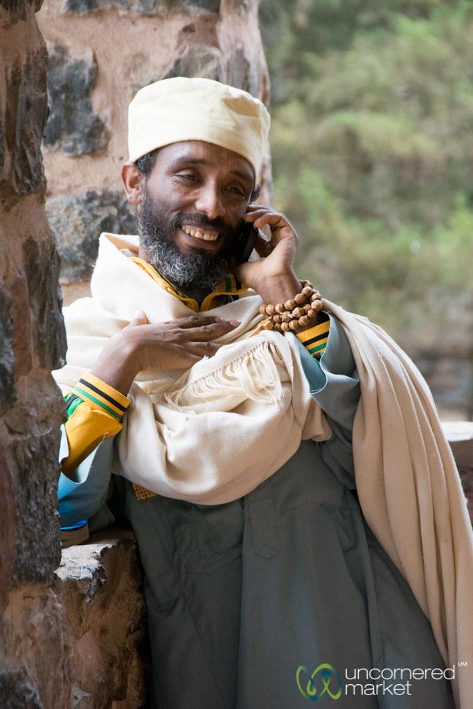 Ethiopian Priest on Mobile Phone - Gondar, Ethiopia | Flickr