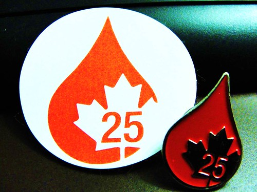 "Gift of Life:  ""Made my 25th blood donation today"" 