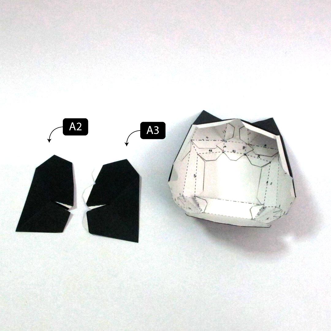 วิธีทำโมเดลกระดาษแบทแมน (Batman Papercraft Model) 006