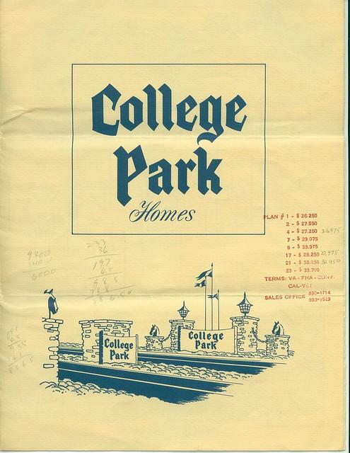 Seal Beach College Park East early brochure