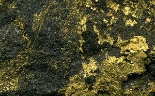 Red Lake Gold Ore - gold stockwork in biotite-carbonate altered, partially silicified metabasalt, Red Lake Mine, Ontario, Canada 2 | by James St. John