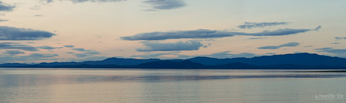 sunset panorama seascape canada beach water landscape island purple britishcolumbia moutains parksville