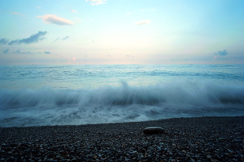 ocean blue light sunset sea summer sky seascape color nature water clouds landscape seaside scenery asia exposure waves outdoor secret dream taiwan pebble fantasy shore serenity flare elegant northern hualien gravel silky hemisphere flickrfriday
