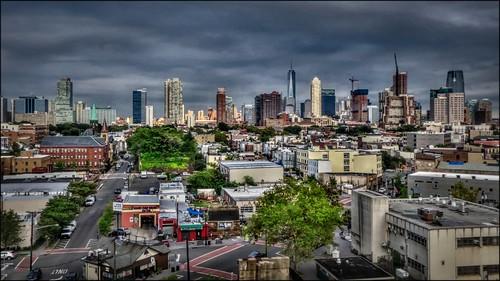 street newyorkcity urban skyline newjersey jerseycity hdr interstate78 6street newarkavenue