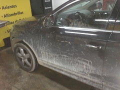 Lavado Exterior a mano. Antes. Audi Q7