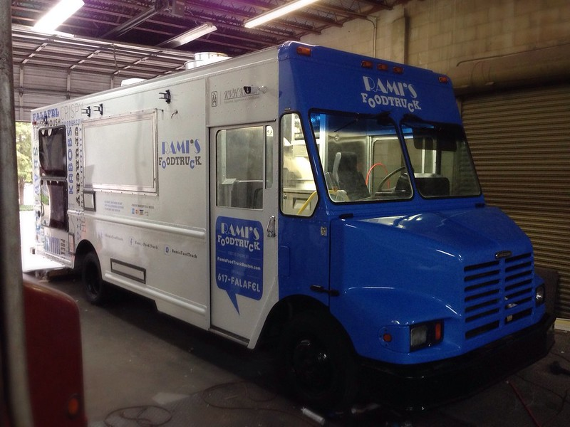 Food truck vehicle wrap graphics
