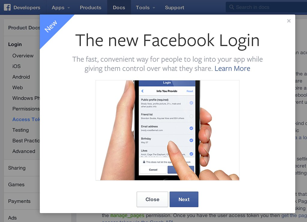 The new Facebook Login | developers facebook com/products/lo… | Flickr
