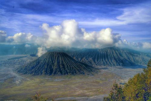 mountain indonesia landscape hdr
