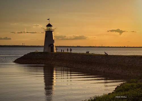 sunset lighthouse oklahoma canon landscape glow artistic oklahomacity lakehefner