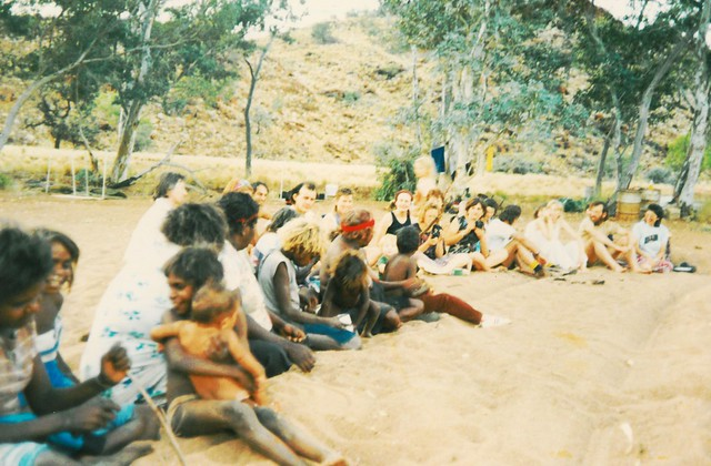 Inma with the people of Angatja