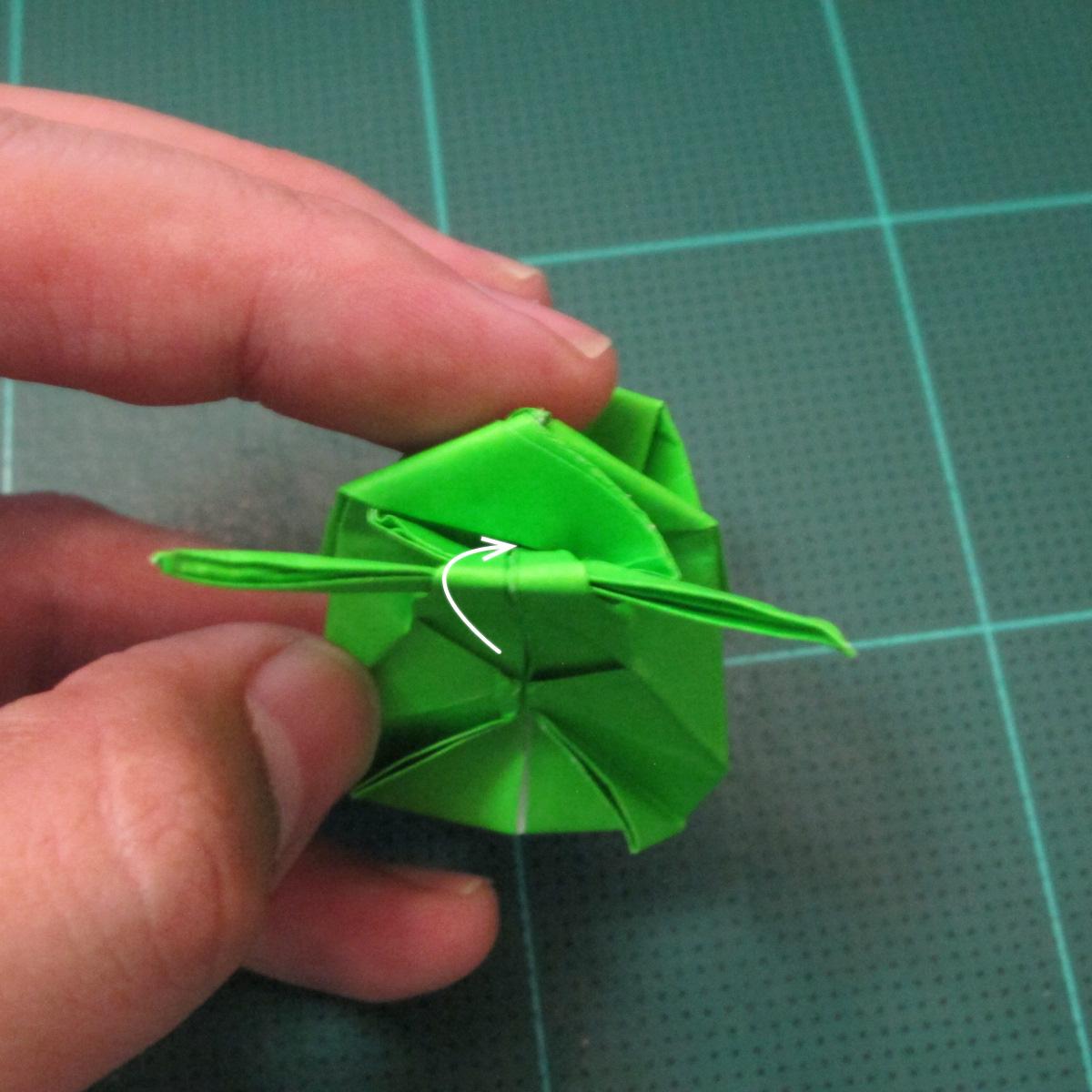 วิธีพับกระดาษเป็นรูปหอยทาก (origami Snail) 028