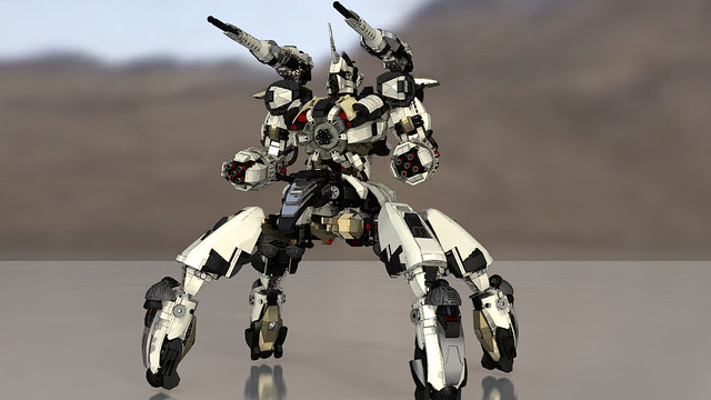 Gundam Chroma S3 Polaris - Tankbot ( LDDtoPOVRAY )