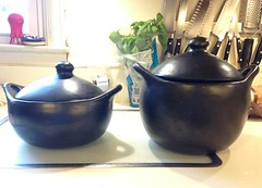 Black clay Chamba pots