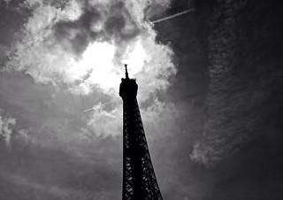 Eiffel Tower Sky Streaks | by Jonathan Gross