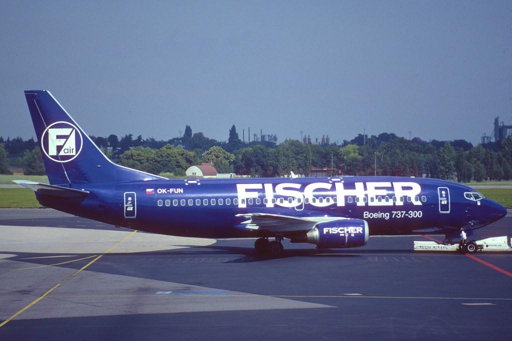 136am - Fischer Air Boeing 737-300; OK-FUN@PRG;05.07.2001 | Flickr