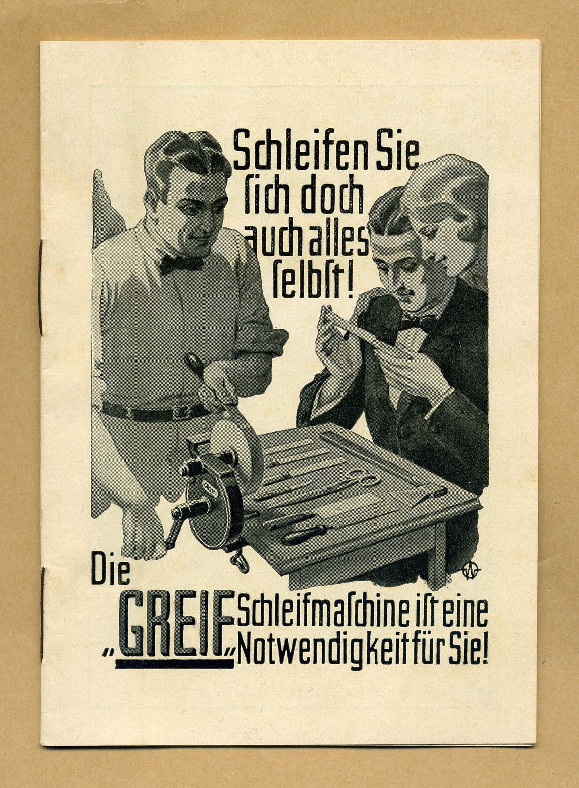 Werbeheftchen für Greif Schleifmaschinen