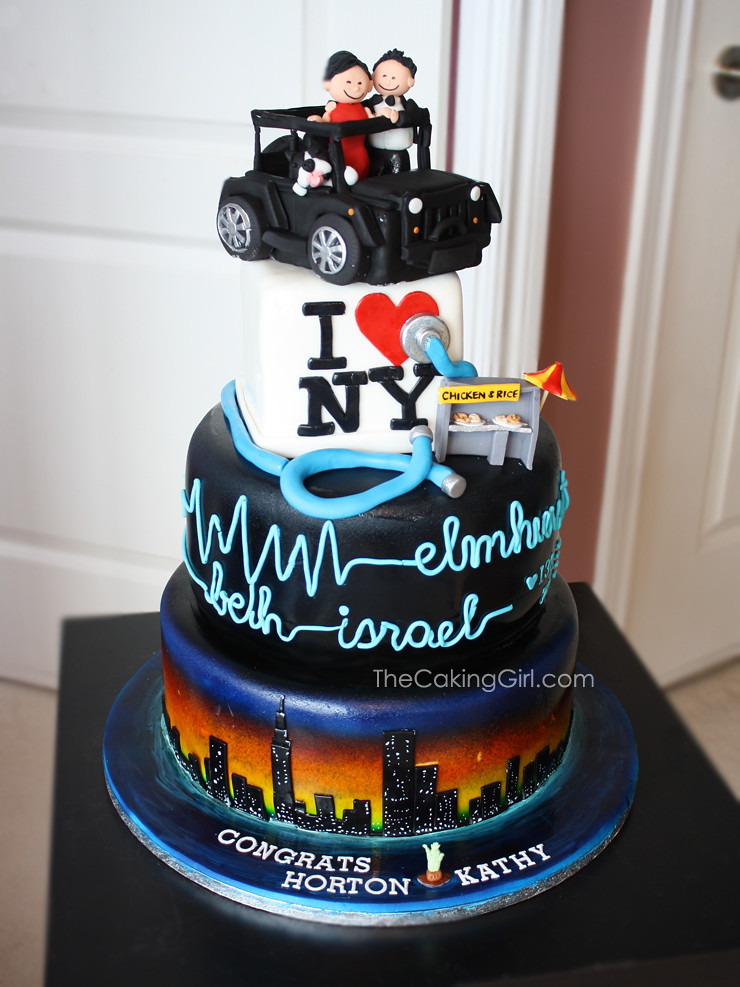 Sensational New York City Theme Wedding Cake Visit My Blog At The Flickr Birthday Cards Printable Riciscafe Filternl