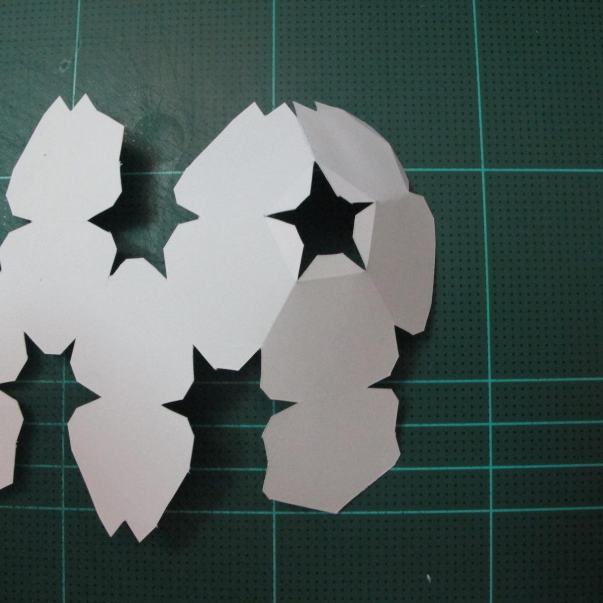 วิธีทำโมเดลกระดาษหมีบราวน์ชุดบอลโลก 2014 ทีมบราซิล (LINE Brown Bear in FIFA World Cup 2014 Brazil Jerseys Papercraft Model) 002