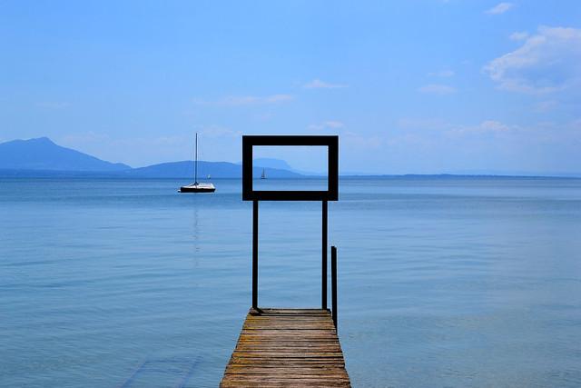 Tableau du Lac Léman, Suisse.