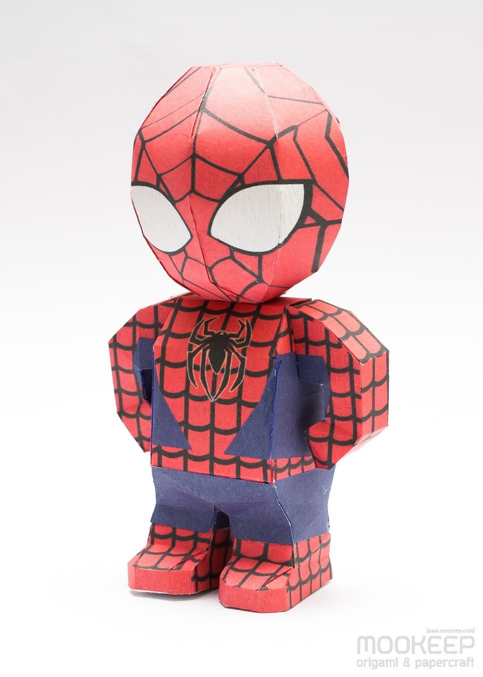 วิธีทำของเล่นโมเดลกระดาษสไปเดอร์แมน (Spiderman Papercraft Model) 001