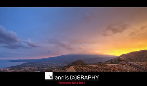 italy panorama volcano sicily etna hdr σικελία αίτνα