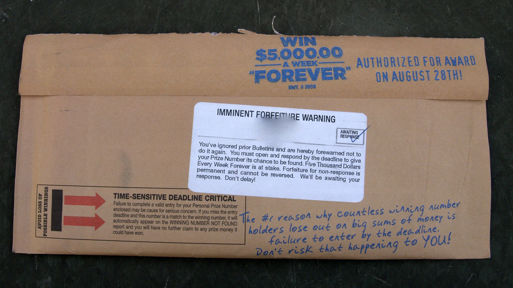 Publishers Clearing House envelope | Read more about my adve
