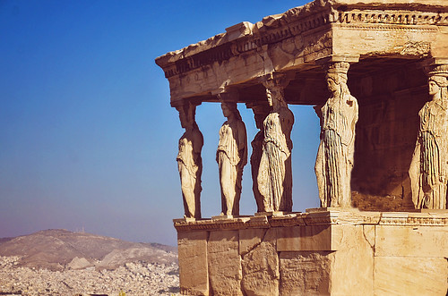 Caryatides in the Erechtheion | by Zosimidou