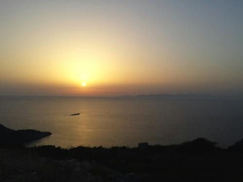 sunset sea island greece sakalak