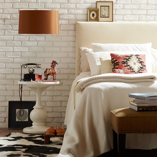 White Brick Bedroom
