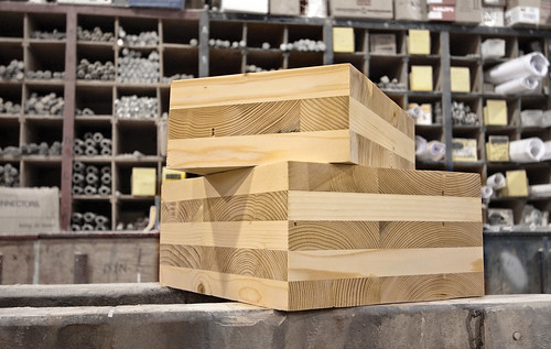 Cross laminated timber blocks | by #ODF