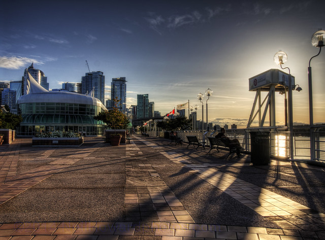 Low Sun at the Canada Centre in Vancouver