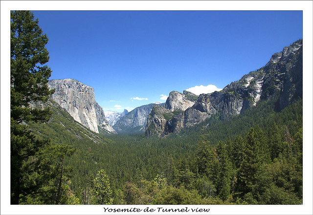 Yosemite vue de tunnel-view