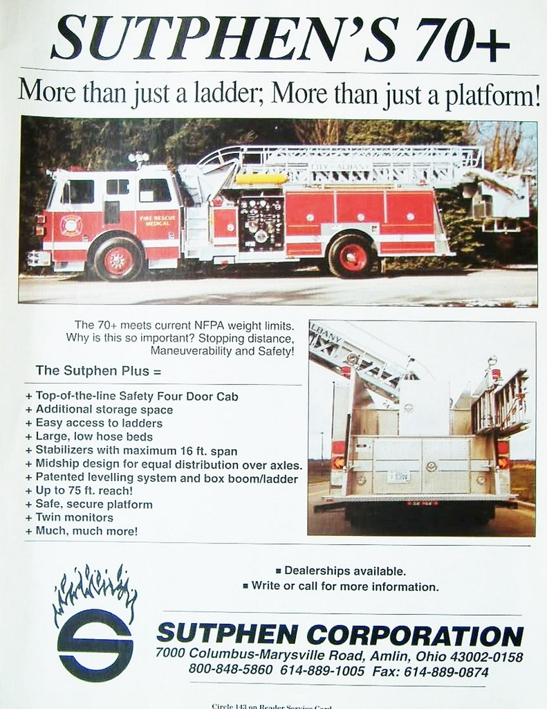 Sutphens fire truck albany ny fire dept 1990s   AlbanyGroup Archive