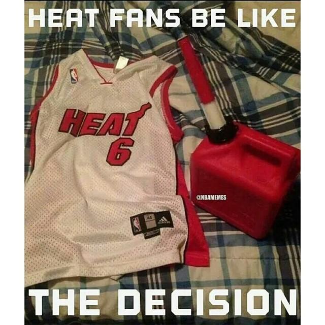 the latest 0feb5 ce986 Bandwagon Miami Heat fans getting ready to burn their LeBr ...
