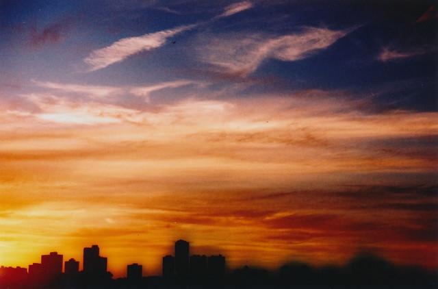 summer sunset over Chicago