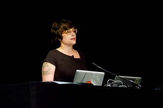 Mandy Brown at dConstruct | by Tom Morris