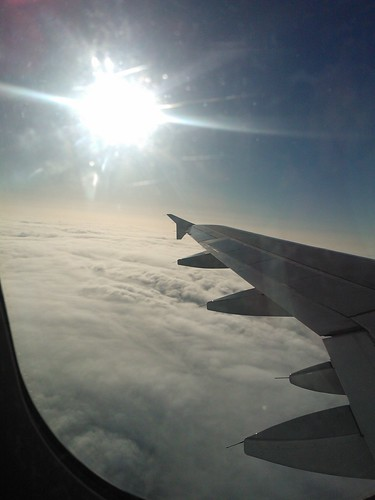sky portugal clouds sunrise wings céu nuvens tap avião plain asas nascerdosol