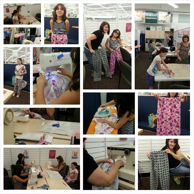 Par Deux Lazy Pants Sewing Class At Joann Fabric Store O Flickr