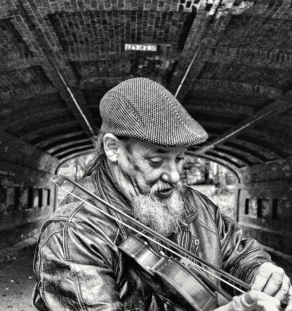 Violin under the bridge