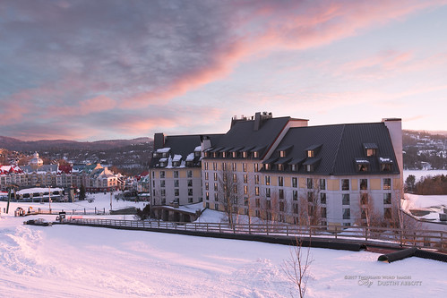 winter adobelightroomcc canon5d4 snow monttremblant alienskinexposurex2 2017 travel sunset dustinabbottnet canada canoneos5dmarkiv 5dmarkiv thousandwordimages adobephotoshopcc photography quebec fairmont photodujour dustinabbott québec ca fairmonttremblant travelarticle skiresort pedestrianvillage canonef35mmf14lusmii