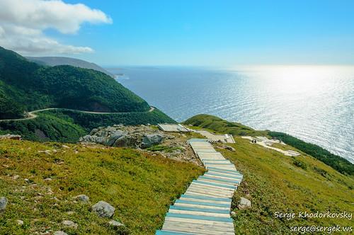 ocean canada nature landscape novascotia scenic capebreton cabottrail pleasantbay skylinetrail