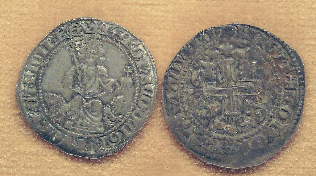 Coin (1303-1309) with seated C...