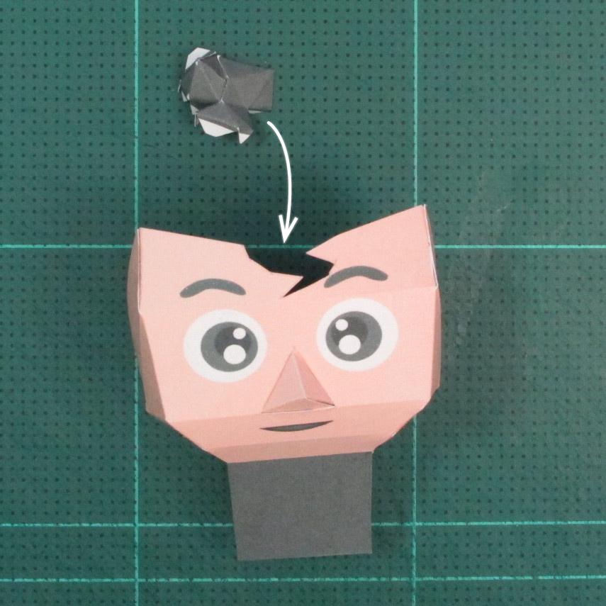 วิธีทำของเล่นโมเดลกระดาษซุปเปอร์แมน (Chibi Superman  Papercraft Model) 006