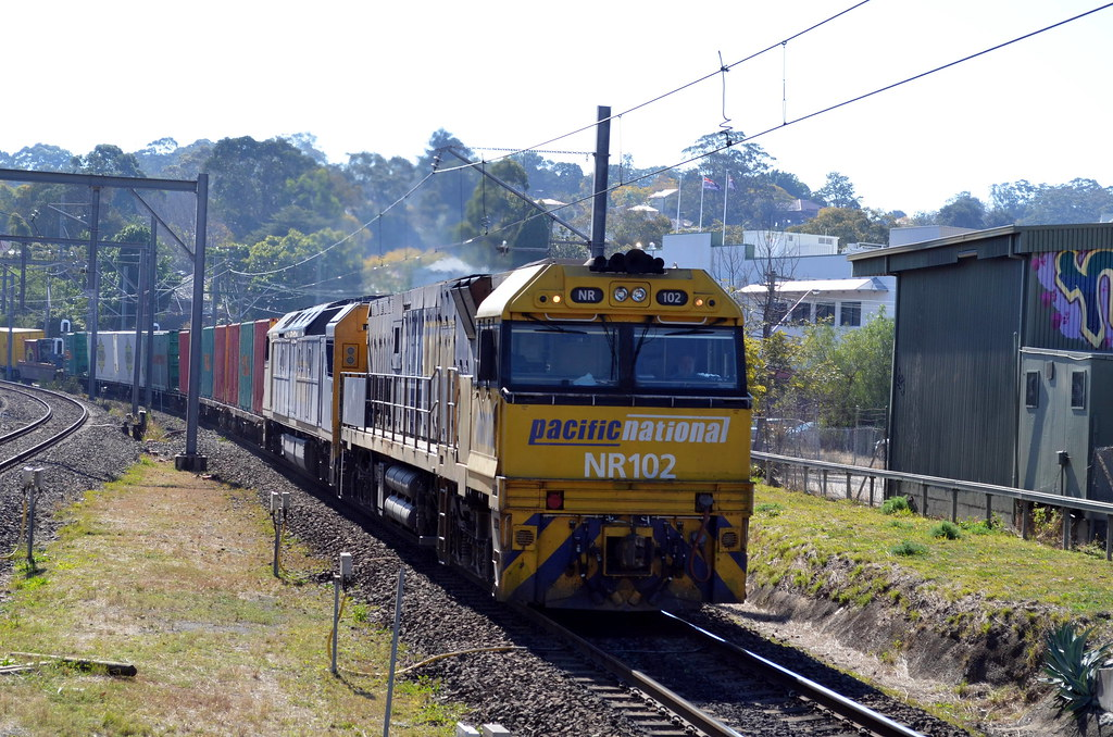 3BA6 lead by NR102 and AN5 roll through west ryde to enfeild by NR1984