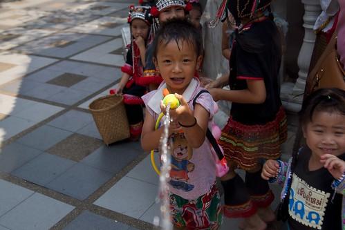 Songkram fight at Wat Phra That Doi Suthep in Chiang Mai, Thailand | by kimtetsu