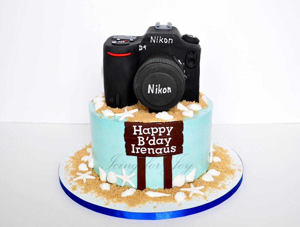 Magnificent Nikon Camera Cake Irene Flickr Funny Birthday Cards Online Benoljebrpdamsfinfo