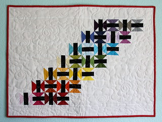 Mini Quilt received at FCMQG Quilt Retreat Summer 2014 | by Kelsey Creates