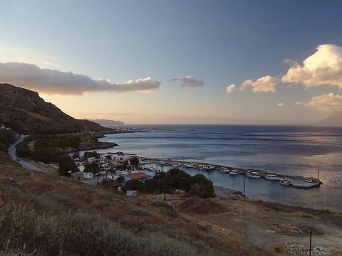 sunset sea summer holiday beach water weather clouds marina landscape evening view harbour hills greece crete mediterraneansea kriti gramvousa kissamos aegansea