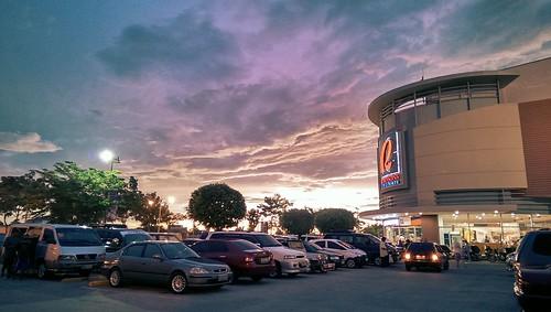 sunset sky clouds mall san nicolas ilocos norte robinsons