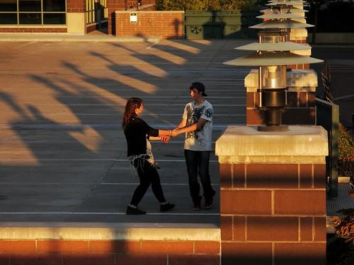 city montana dancing candid streetphotography missoula sunsetlight allalone doyoureallythinkthiswouldlookbetterinbw